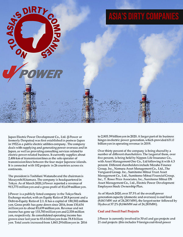 ADC Briefer on J-POWER